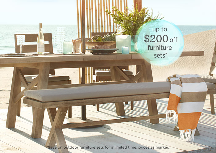 Up to $200 off furniture sets*
