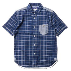 Junya Watanabe MAN Cotton Jersey/Pique Check S/S Shirt