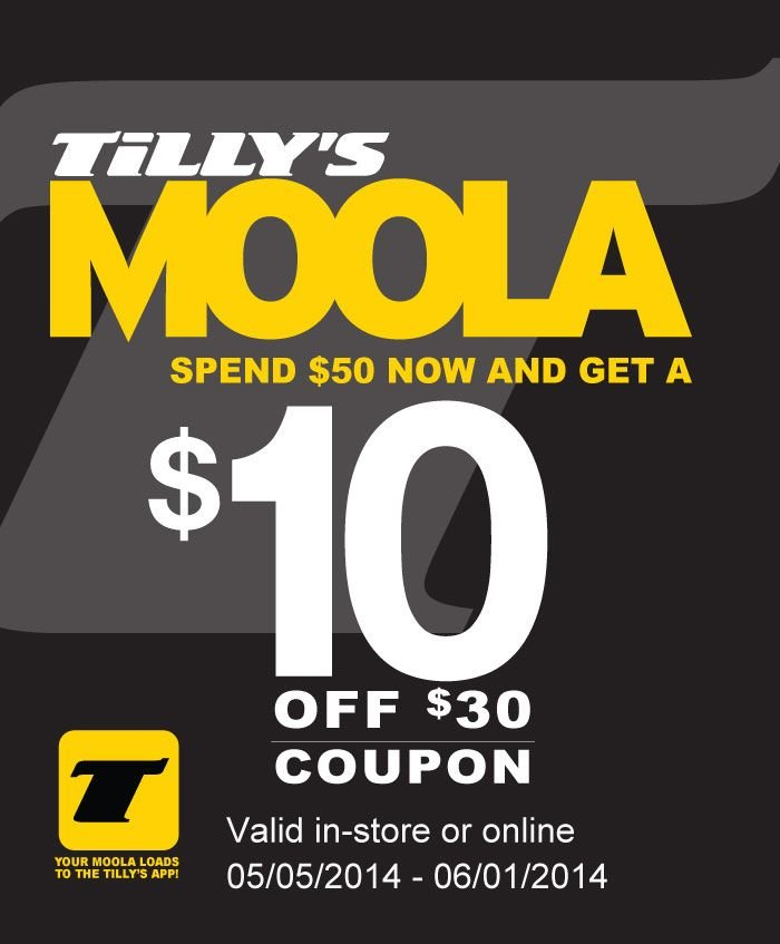 Moola! Spend $50 Now and Get $10 Off $30.