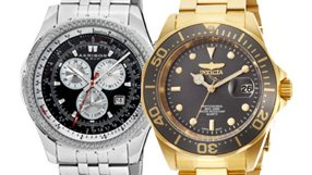 Men's Watches by Akribos and Invicta