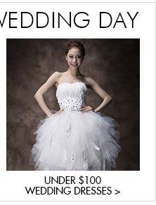 Under $100 Wedding Dresses>>