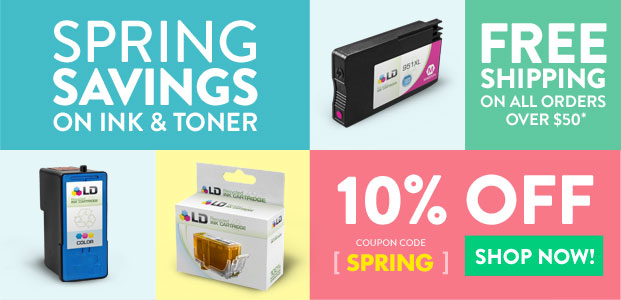 Spring Savings on Ink & Toner - Get 10% Off - SHOP NOW