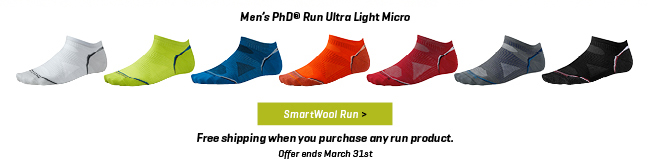 Free shipping when you purchase any run product