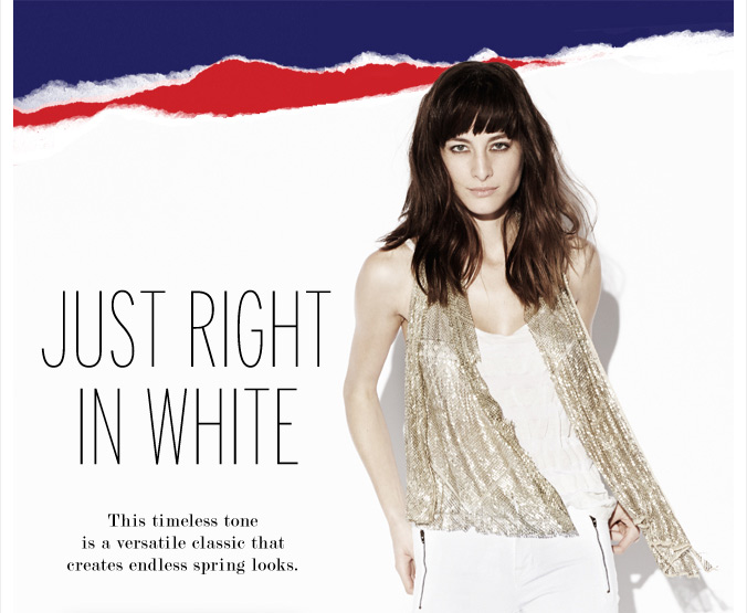 Just right in white