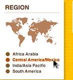 REGION: Africa Arabia, Central America/Mexico, India/Asia Pacific, South America.