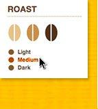 ROAST: Light, Medium, Dark.