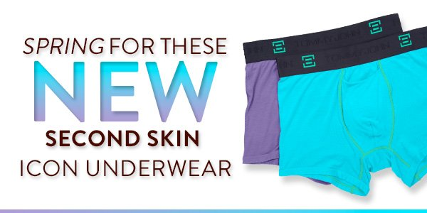 Spring for these NEW Second Skin Icon Underwear