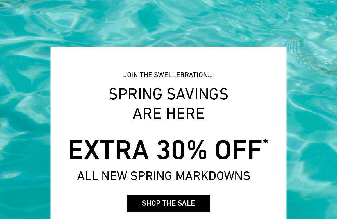 Spring Saving: Extra 30% Off New Spring Markdowns!