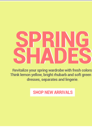 Revitalize your spring wardrobe with fresh colors.