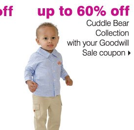 up to 60% off Cuddle Bears Collections with your Goodwill Sale coupon