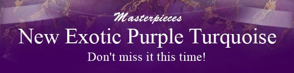 Masterpieces New Exotic Purple Turquoise
