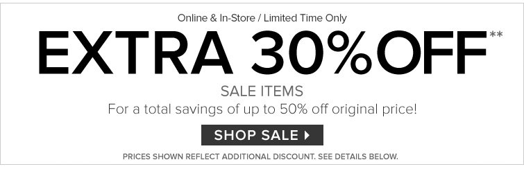 Extra 30% Off - Shop Sale