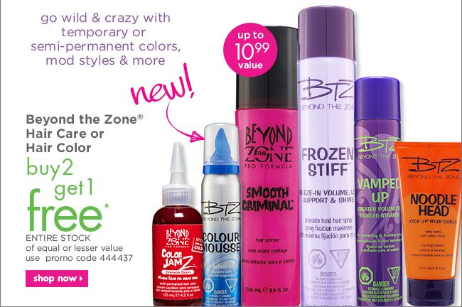 Beyond the Zone Hair Care or Hair Color buy 2 get 1 free*