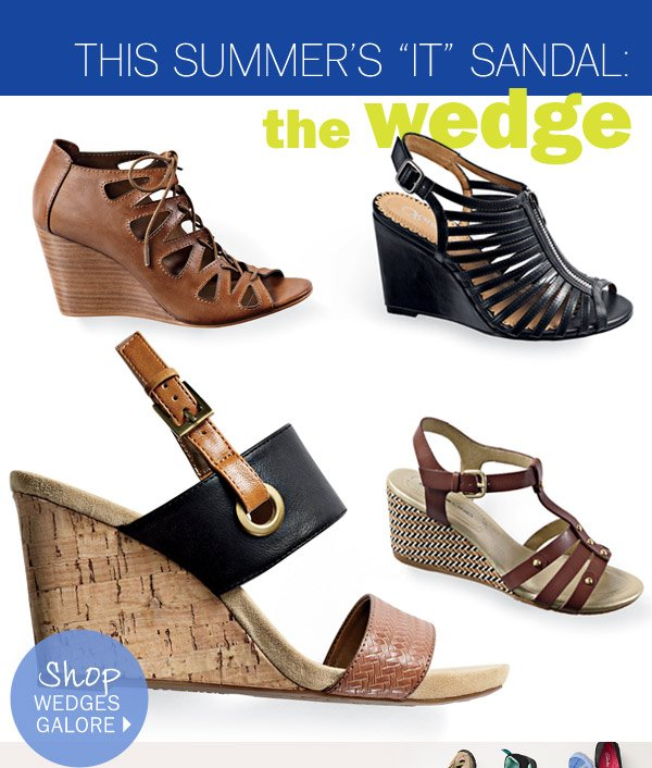 The Summer - Sandal: The Wedge Shop wedges galore