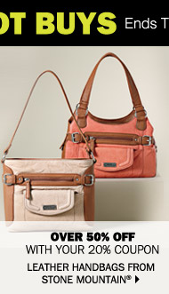 Over 50% off with your 20% coupon Leather handbags from Stone Mountain®