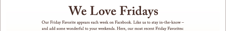 We Love Fridays