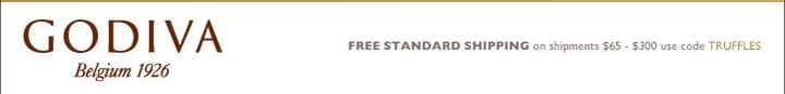 GODIVA Belgium 1926 FREE STANDARD SHIPPING on shipments $65-$300 use code TRUFFLES