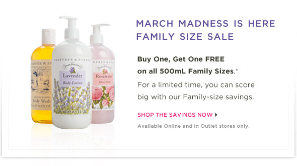 March Madness is here! Family Size sale