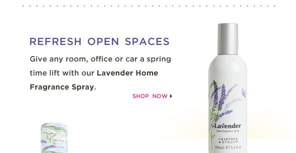Give any room, office or car a spring time lift with our Lavender Home Fragrance Spray