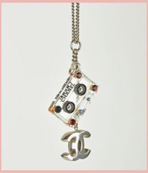 Chanel Cassette Tape Necklace