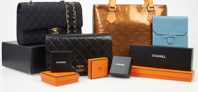 Vintage Chanel, Louis Vuitton and Hermes
