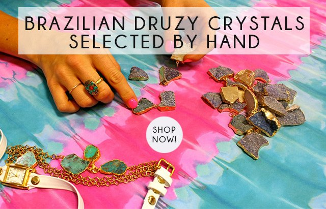 Brazilian Druzy Crystals Selected by Hand. Shop Now!