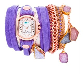 Santorini Druzy Crystal Wrap Watch