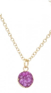 Fuchsia Brazilian Druzy Necklace
