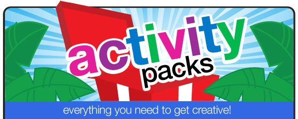 activity packs - everything you need to get creative