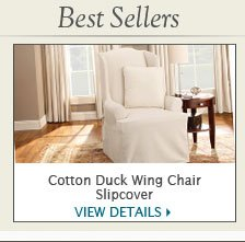 Cotton Duck Wing Chair