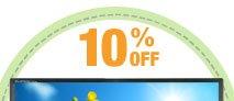 10% OFF SELECT LG LED-BACKLIT MONITORS*