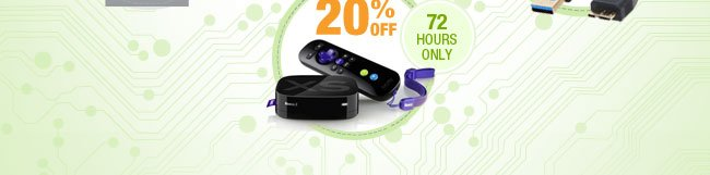 72 HOURS ONLY! 20% OFF SELECT REFURBISHED COMPONENTS*