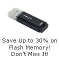 Save up to 30% on Flash Memory