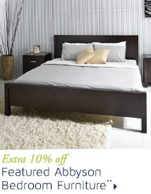 Extra 10% off Featured Abbyson Bedroom Furniture**
