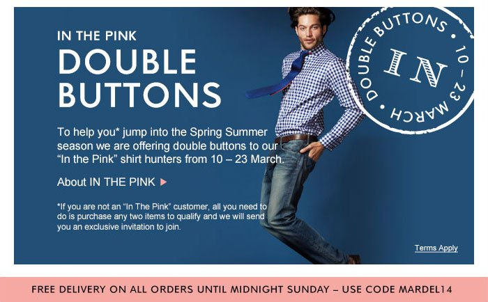 In the Pink Double Buttons