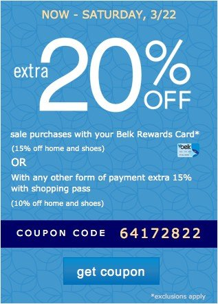Biggest One Day Sale Coupon