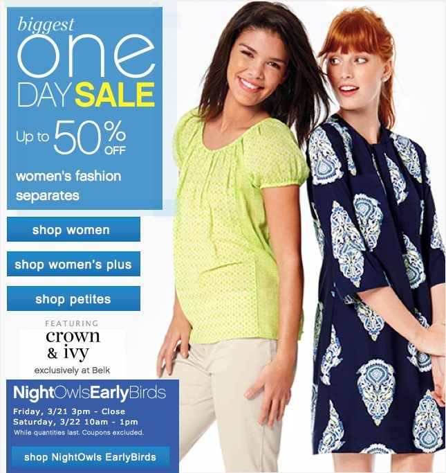 #Biggest One Day Sale