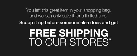 FREE SHIPPING TO OUR STORES