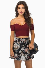 Sweetie Off Shoulder Crop Top $29