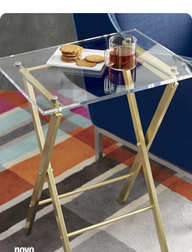 novo acrylic folding table 126. reg 149.