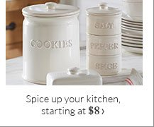 Spice up your kitchen, starting at $8
