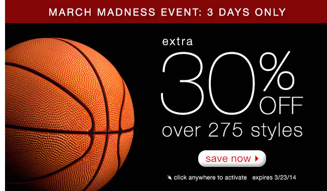 3 Days Only: Extra 25% Off Over 275 Styles.