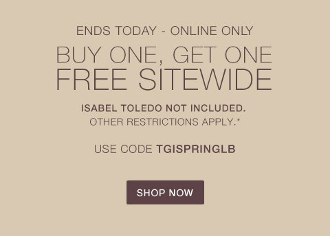 Last Day: BOGO Free Sitewide
