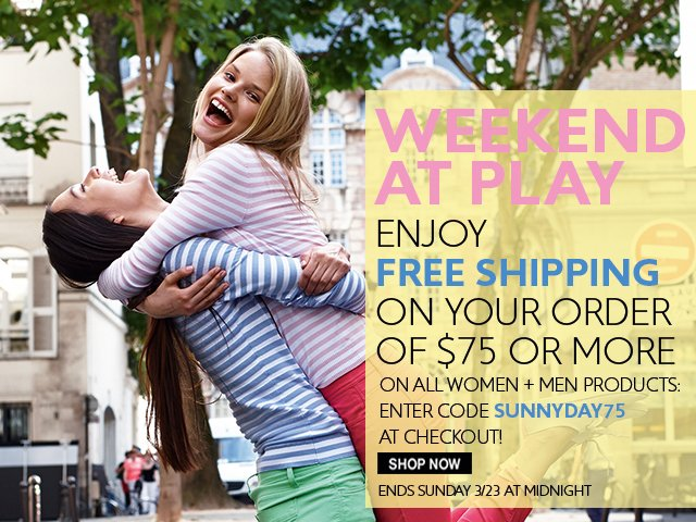 Take advantage of our free shipping offer this weekend only!