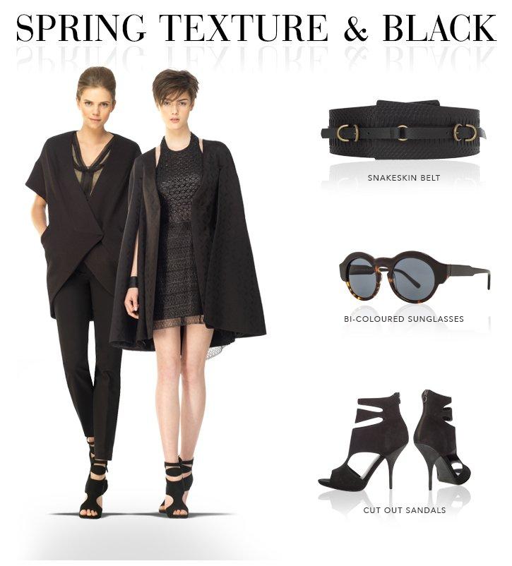 Spring Texture & Black
