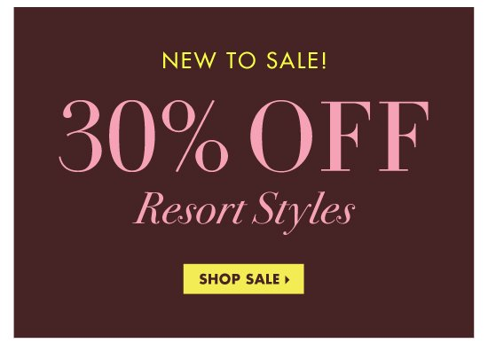 30% OFF SELECT STYLE
