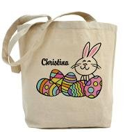 Personalizable Bunny and Eggs Tote