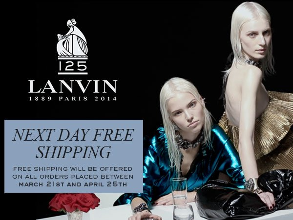 LANVIN SPRING 2014 with FREE SHIPPING