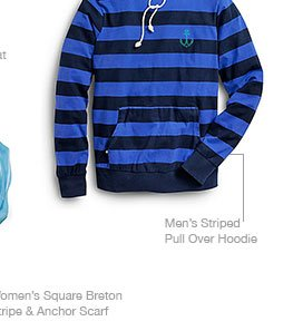 Men's Striped Pull Over Hoodie