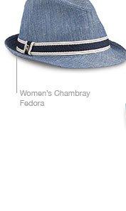Women's Chambray Fedora